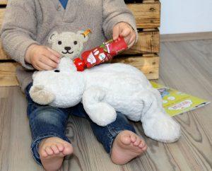 Sogar unser Teddy wird gefüttert;-)