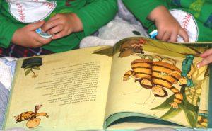 """Die Zwillinge Alf und Ulf lesen """"Die kleine Hummel Bommel sucht das Glück"""", der neue Bilderbuchbestseller aus dem arsEdition Verlag"""