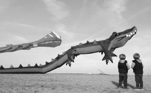 Travemünde, Drachenfest 2017 an der Strandpromenade